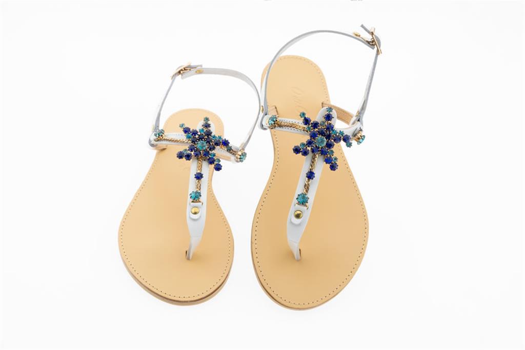 Gioiello Con Infradito Sandalo Blu Pietre LUVGSzpMq