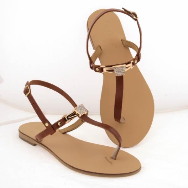 Strass Sandalo Gioiello Da Donna Cuoio E Color Con Applicazione TFK5lJc3u1
