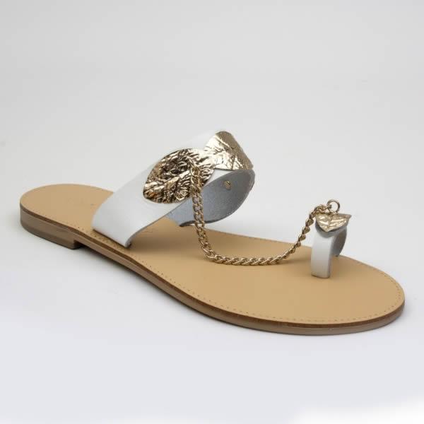 Donna Alluce Con Ferma Infradito Bianco Sandalo USVpzMq