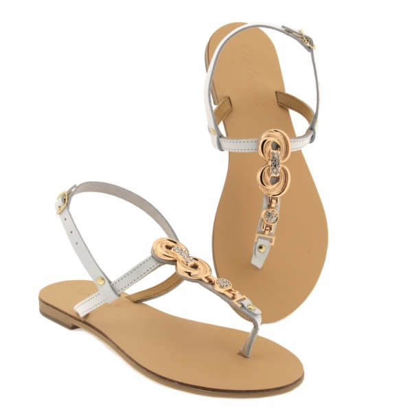 Sandalo otranto bianco da donna Gran Rango De zoE189a7ww